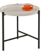 bhp Side Table with Tray White MDF B154368