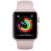Apple Watch Series 3 42mm zlatý hliník s pískově růžovým sportovním řemínkem