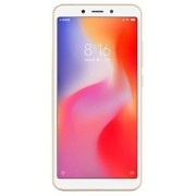 "Telefon Mobil Xiaomi Redmi 6, Procesor Octa-Core 2GHz, IPS LCD capacitive touchscreen 5.45"", 3GB RAM, 32GB Flash, Camera Duala 12+5MP, Wi-Fi, 4G, Dual Sim, Android (Auriu) + Cartela SIM Orange PrePay, 6 euro credit, 6 GB internet 4G, 2,000 minute national"