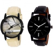 R P S fashion new 2018 model combo pack of 2 men watch 6 month warranty