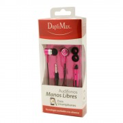Audifono Duplimax Manos Libres Rosa 3.5mm