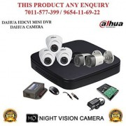 Dahua 1.3 MP HDCVI 8CH DVR + Bullet Camera 2Pcs and Dome Camera 3Pcs + 1TB HDD + POWER SUPLAY + BNC + DC ( CCTV COMBO )