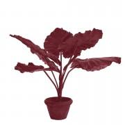 Planta artificiala rosie cu ghiveci din lut si plastic 177 cm Taro Pols Potten
