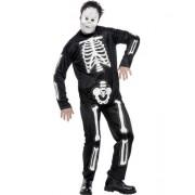 Costum complet Halloween L - Schelet cu masca