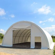 TOOLPORT Arched Shelter 9,15x12m PVC 720 g/m2 white waterproof