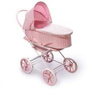 Badger Basket Pink Rosebud 3-in-1 Doll Pram Carrier and Stroller (fits American Girl dolls)