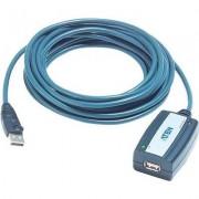 USB 2.0 hosszabbító kábel 5m, fekete (989238)