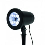 Led projektor , beltéri/kültéri , hideg fehér , mozgó hópehely vetítéssel , IP44