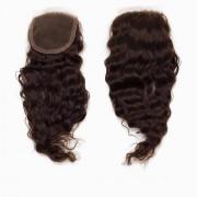 Rapunzel® Extensions Naturali Lace Closure Bouncy Curl 2.3 Chocolate Brown 30 cm