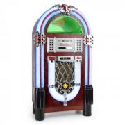 Auna Graceland TT Jukebox Bluetooth Fono CD USB SD MP3 AUX FM (BX-Graceland TT)