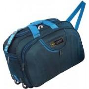 AM Creation (Expandable) 40 Liters Unisex Trolley Travel Duffel Bag With Shoulder Strap Duffel Strolley Bag(Blue)