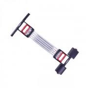 Extensor fitness multifunctional cu arcuri metalice pentru brate, piept si picioare