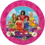 Prinsessia thema feestje borden 8 stuks