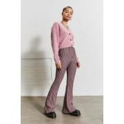 Urban Outfitters Archive - Pantalon évasé et rayé en tricot jacquard- taille: S
