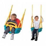 Leagan convertibil 3 în 1 pentru copii 6 luni - 7 ani - Albastru cu Galben