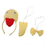 Unisex Kids Little Duck Headband Tail Bow Tie Costume Accessory Fancy Dress