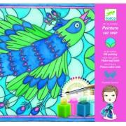 Pictură pe mătase păun, kit Djeco