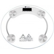 Granny Smith Smith Personal Health Human Body Weight Machine 2003A Round Transparent Glass Weighing Scale(White)