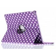 Paarse 360º draaibare polka dot tablethoes voor de iPad Pro 12.9