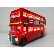 London Bus Lighting Kit for Lego 10258 Set (LEGO set Not Included) by Brick Loot