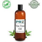 PRZ Tea Tree Essential Oil (100ML) - Pure Natural & Therapeutic Grade Oil For Aromatherapy Body Massage Skin Care & Hair Care
