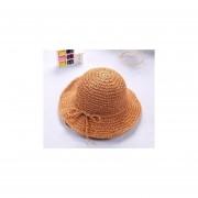 nuevo de Sol para niñas hecho a manoverano rafia paja ala de playa gorra plegable transpirable para padres de Verano infantil Sombrero LANG(#Khaki)(#55-58CM)
