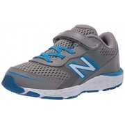 New Balance Boys' 680v6 Running Shoe, Marblehead/Vision Blue Bungee, 2 M US Infant