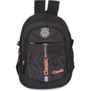 Classic Polyester Multi Pocket School Bag |Casual Bag | Shoulder Backpacks for Girls & Boys 36 L Backpack(Black)