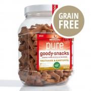 Pure Meradog pure Goody Snacks Tacchino & Patate (senza cereali) - Set risparmio: 3 x 600 g