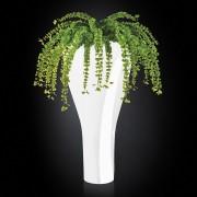 Aranjament floral TORONTO IN SHINY VASE, alb 160cm