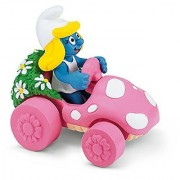 Schleich Smurfette In Car Toy Figure
