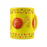 Caneca Porcelana Chocolate Serenata de Amor 02 Amarela