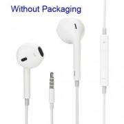 Casti Handsfree iPhone 6 Cu Microfon Albe