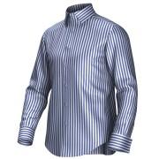 Maatoverhemd wit/blauw 54004