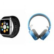 Zemini GT08 Smart Watch and SH 12 Bluetooth Headphone for LG OPTIMUS L5 II(GT08 Smart Watch with 4G sim card camera memory card |SH 12 Bluetooth Headphone )