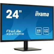 "Монитор IIYAMA X2474HS-B1 23.6"" (59.94 cm), VA панел, 4ms, 12000000:1, 250 cd/m2, Display Port, HDMI, VGA"