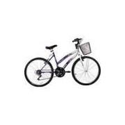 Bicicleta Track Bikes Parati RX Feminina 18V Aro 24 18 Marchas - Branco/Roxo