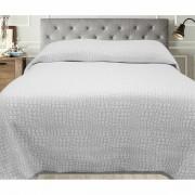 Cuvertură de pat Carson, gri, 240 x 260 cm, 240 x 260 cm