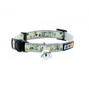 Pawtitas Glow In The Dark Cat Collar, Grey