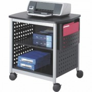 Mayline Safco Deskside Printer Stand - Black, 26 1/2 Inch W x 20 1/2 Inch D x 26 1/2 Inch H, Model 1856BL
