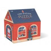Crocodile Creek Fire Station House Shaped Box Floor Puzzle - 36 Piece