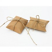 ELECTROPRIME 50pcs Kraft Brown Shabby Rustic Sweets Candy Gift Boxes Wedding Party Favor