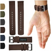 GadgetWraps 22mm Canvas Watch Band w/Quick Release Pins | Soft Nylon Replacement Strap for LG, Samsung Gear Classic, Galaxy & Frontier (S3, S2), Asus,