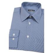 Modrá pánská košile s úzkým bílým proužkem Avantgard 511-3101-41/42/182