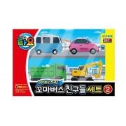 Little Bus Tayo Friends Special Mini 4 Pcs Toy Set (Max + Poco + Heart + Bong Bong)