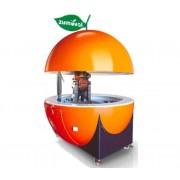 Kiosk Zumoval | Incl. Wielen, Wasbak, Watervoorziening | Hoogte Geopend 3.13m