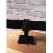 Bracelet Noir Perles Bois de Santal