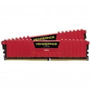 Memoria Ram CORSAIR VENGEANCE LPX DDR4 16GB 3200Mhz Rojo