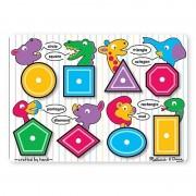 Melissa Doug jucarii educative tip puzzle lemn forme geometrice si culori