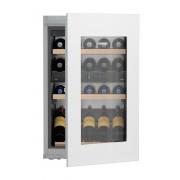 Vitrină de vin încorporabilă EWTgw 1683, 104 L, 33 sticle, Alarmă uşă, Siguranţă copii, Display, Control electronic, Iluminare LED, Rafturi lemn, H 89 cm, Clasa A